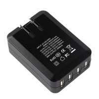ORICO DCH-4U 5V 6A 4-Port USB Wall Travel Charger for Phone Smart Charging Device for Phone Computer Camera-Black