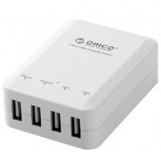 ORICO DCH-4U 5V 6A 4-Port USB Wall Travel Charger for Phone Smart Charging Device for Phone Computer Camera-White