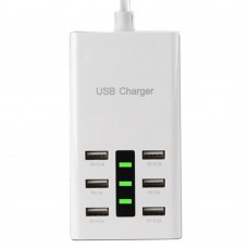 AC 110-240V 6 Ports High Speed USB Charger Fast Charging HUB Power Adapter for MP3 Phone Computer