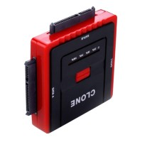 888U2 High-Speed USB 2.0 to SATA HDD Converter Adapter HD Hard Drive Backup Copy Clone