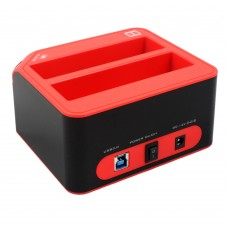 Y-3022 USB3.0 to Dual HDD Docking Station Clone 2Tb HDD Enclosure for 2.5'' 3.5'' Hard Disc Box