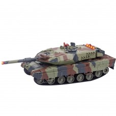 516 War Tank RC Charging Tank Automatic Rotating Remote Control Toy for Kids-Army Green