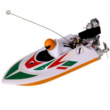 Mini 40MHz Wireless Remote Control Boat Toy RC Racing Speedboat for Kids-White