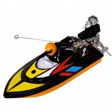 Mini 27MHz Wireless Remote Control Boat Toy RC Racing Speedboat for Kids-Black