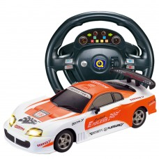 HuanQ661 Remote Control Car 1:18 Steering Wheel Gravity Induction RC Racing Car Toy for Kids-Orange
