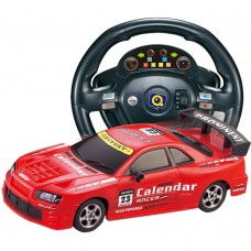 HuanQ661 Remote Control Car 1:18 Steering Wheel Gravity Induction RC Racing Car Toy for Kids-Red