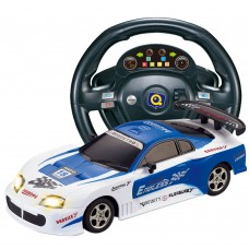HuanQ661 Remote Control Car 1:18 Steering Wheel Gravity Induction RC Racing Car Toy for Kids-Blue