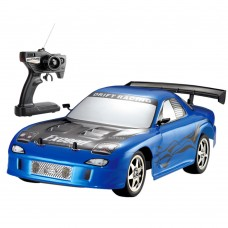 HuanQ538 Remote Control Car 1:10 RC Drift Racing Car Toy for Kids-Blue