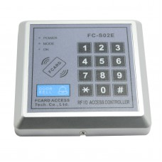 FC-S02E DC 12V Security Password 125KHZ EM RFID Proximity Entry Door Lock Access Control System