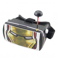5 inch Display 5.8G 32CH Googles DIY FPV Video Glasses Ready to Use Iron Man for Multicopter