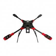 MAX4 LY600 600mm 4-Axis Carbon Fiber Folding Quadcopter with Landing Gear & Hanging Parts for FPV