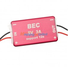 FPV 1.2G 5.8G Micro BEC with CNC Enclosure 12V 3A Output 12S for Multicopter Telemetry-Red