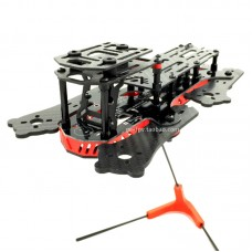 GE280Z 4-Aixs Carbon Fiber Quadcopter Frame with Power Distribution Board for FPV