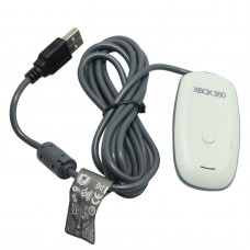 Mini PC 2.4GHz Wireless Gaming Receiver Controller USB Adapter for XBOX 360-White