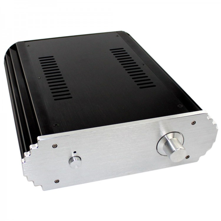 WA12 Amplifier Aluminum Case Box Shell Chassis for Audio Amps DIY 425x313x70mm