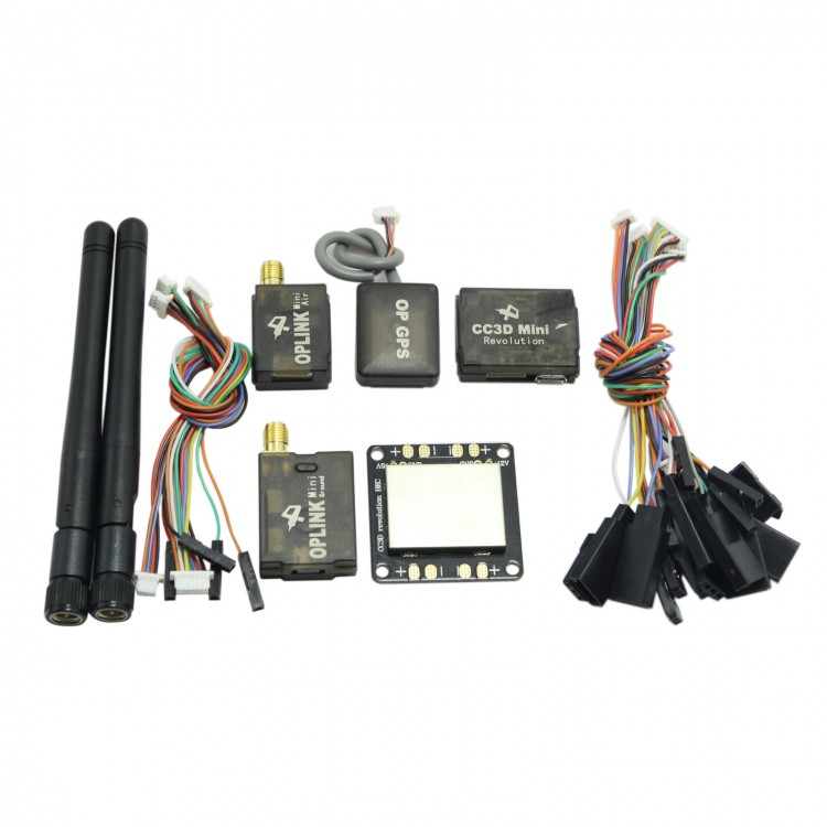 mini cc3d revolution flight controller+oplink telemetry 433mhz+op  gps+distribution board kit for multicopter fpv