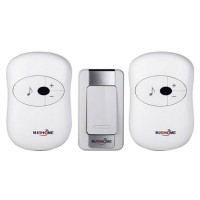 1 Transmitter 2 Receiver Waterproof 200m Wireless Doorbell Chime 36 Melodies Calling Device