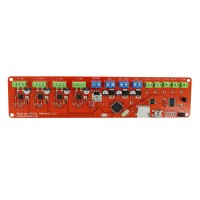 3D Printer Mainboard 12V Upgraded Reprap MELZI2.0 i3 PCB Control Board Integrated Mini-USB Slot