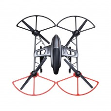 YUNEEC Q500 Quick-Release Propeller Protector Bumper Protective Guards for Multicopter Black and Red -4Pack