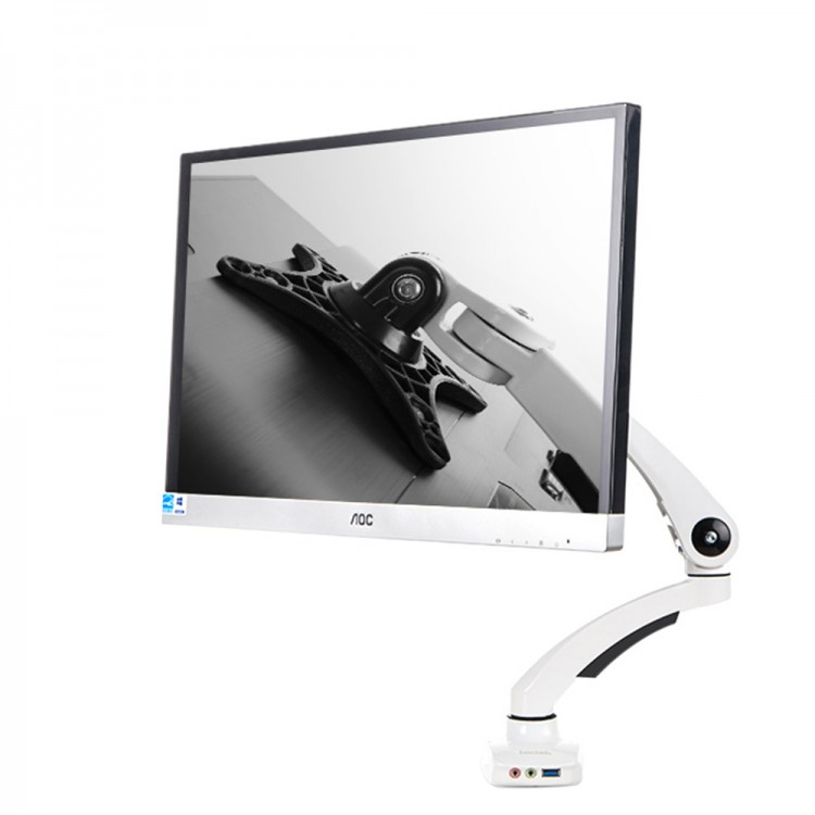 Lcd Monitor Stand Desktop Rotating Retractable Lifter Display Bracket Computer Chassis Rack Holder Free Thankser