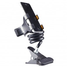 Phone Stents Bracket Two Clips Bed Destop Mobile Phone Stand Holder for iPhone Samsung