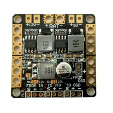 CC3D Naze32 F3 Flight Controller Power Distribution Board with 5V/12V 3A BEC Output + Filter