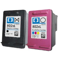 HP 802XL Ink Cartridge Black + Color for HP 1000 1050 2000 2050 1010 1510 Inkjet Printer