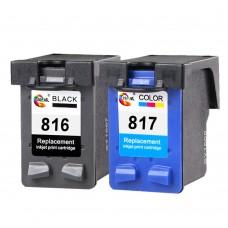 Ink Cartridge HP816 817 Black+Color for C8816A C8817A HP DJ3538 3558 3658 3668 5168 5652 Printer