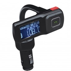 Bluetooth Handsfree Car Kit LED FM Transmitter MP3 Player for Universal Cell Phone USB TF AUX