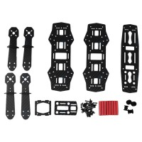 Mini 250 Unassembled Carbon Fiber FPV Quadcopter Frame DIY Kit+Transmitter+Camera for RC UAV Drone Helicopter