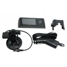 "R300 2.7"" 140 Degree DC5V Car Video Recorder Vehicle Camera DVR HD 1280x720 Dual Lens Monitor Synchronous Recoding"