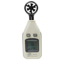 GM816A LCD Wind Speed Temperature Gauge Anemometer Air Velocity Meter Air Temperature Measurement Tester Indicator