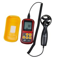 GM8901 Air Flow Anemometer Wind Speed Gauge Air Velocity Meter Air Temperature Measurement Tester
