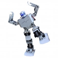 16DOF Robo-Soul H3s Biped Robtic Two-Legged Human Robot Aluminum Frame Kit with Helmet Head Hood - White