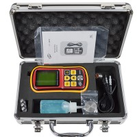GM100 Portable Digital LCD Ultrasonic Thickness Gauge 1.2-220mm Sound Velocity Meter Tester