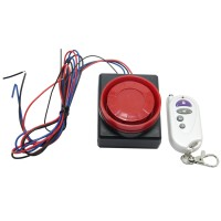 Motorcycle Electronic Motor Car Vibration Sensor Anti-Theft  Burglar Alarm Monitor with Wireless Remote