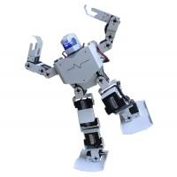 16DOF Robo-Soul H3.0 Biped Robotics Two-Legged Human Robot Aluminum Frame Kit with Servos & Helmet - White