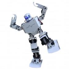 16DOF Robo-Soul H3s Biped Robotics Two-Legged Human Robot Aluminum Frame Kit with Servos & Helmet - White