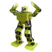 16DOF Robo-Soul H3.0 Biped Robotics Two-Leg Human Robot Aluminum Frame Kit with Servos & Helmet - Green-Yellow