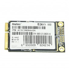 Kingspec Mini PCIE MSATA SATA III II SSD 64GB HDD Hard Drive Solid State Drive Disk for Dell Acer 722 W500 HP Envy IBM Lenovo