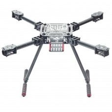 Lji ZD550 550mm 4-Axis Carbon Fiber Quadcopter Frame Umbrella Folding with Landing Gear for FPV