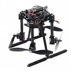 Unassembled Lji ZD550 4-Axis Carbon Fiber Folding Quadcopter Frame Kit for FPV RC Multicopter DIY