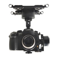 HG3D FPV Mini DSLR 3-Axis Brushless Gimbal Camera Mount PTZ for GH3 GH4 NEX5 A5000 6000 A7 Multicopter