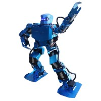 16DOF Robo-Soul H3.0 Biped Robtic Two-Legged Human Robot Aluminum Frame Kit with Helmet Head Hood - Blue