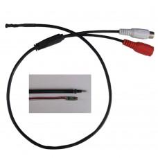 MA200A DC3.3V-6V 2mA Mini Mic Sound Monitor Voice Microphone Audio for CCTV Surveillance Burglar Alarm