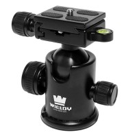 Wiedly W1 3 Swivel Ball Head with Quick Release Plate for Tripod Monopod 5D2 5D3 DSLR Camera