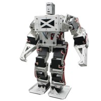 17 DOF Biped Robot Humanoid Anthropomorphic Combat Battle Robot Kit Height 38cm