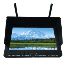 "SKY-708 5.8G 7"" 40CH DVR Field HD Monitor Built-in Dual Receiver HDMI Input with Sunshade for FPV"