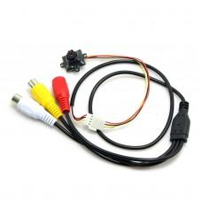 MC493A DC3.3V-6V Mini CMOS CCTV Camera 520TVL 0.008Lux HD Video Cam for Security