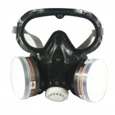 Respirators Dust Mask Gas Mask Safety Glasses w/ 20pcs Cutton for Painting